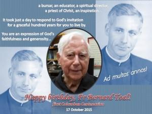 Happy Bday, Fr Bernard Toal, 2015
